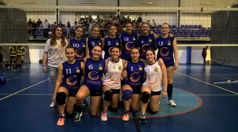 Equipo femenino juvenil de Oliva: Cañamas Volei Oliva.