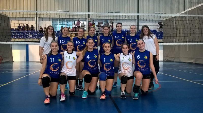 Equipo juvenil Cañamás Volei Oliva