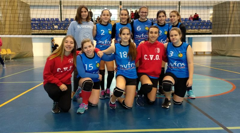 Equipo femenino infantil zonal del CV Oliva