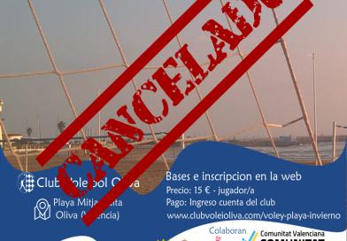 Cancelada la 4ª prueba del torneo de Voley Playa